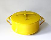 Dansk Kobenstyle Yellow Saucepan 1960s 2 Quart