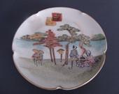 Satsuma Plate Signed Meiji Period