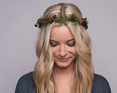 Winter Flower Crown  Christmas Crown  Snow  Christmas  Flower Crown  Headpiece  Winter Headpiece