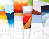 2015 Calendar, Wall Calendar, Fine Art Calendar, Nature Calendar, Modern Art, Abstract Art, Landscapes