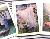 Trudi Doyle Fine Art Note Cards,  Six from my art collection - 2 of each image - blank  for your message- with envelopes -