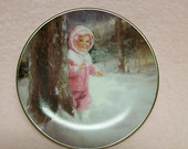 Donald Zolan Plate  Snowy Adventure Donald Zolan Painter of Children