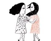 Girls (Illustration, Print)