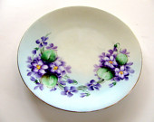 Favorite Bavaria Plate Hand Painted Porcelain Cabinet Plate Artist Minnie Luken Signed