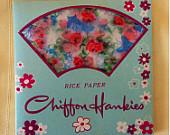 Vintage 1950's Chiffon Hankies rice paper