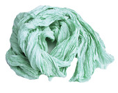 mint silk scarf - Spring Mint - mint, sage, light green, water color silk ruffled scarf