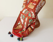 Boho Shoulder Bag Indian Embroidery Mirrored