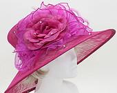 Kentucky Derby hat, Derby hat, Pink Sinamay Organza Flower Dressy Summer Hat , Church Hat, Del Mar Races, Wedding