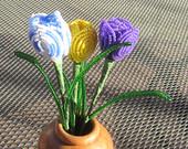Crocus - Spring flowers - Dee's French Beaded Flowers