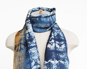 Statement piece, luxury  silk scarf, hand printed scarf, screen printed scarf