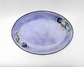 Platter, Ceramic platter, Oval platter, serving plate, hand painted plate, housewarming gift
