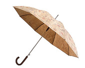 Amazing Cork Umbrella / Floral Pattern Fabric  -  FREE SHIPPING WORLDWIDE