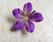 Flower Hair Clip, Purple Silk Flower Hair Clip, Spring, Summer, Girly, Flower Power