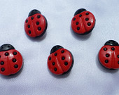 Ladybug Button Thumbtacks, whimsical office, college dorm, classroom decor - Ladybug Collector, teacher gift-stocking stuffer under 5
