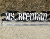 SALE Personalized teacher gift acrylic desk name plate deskplate nameplate custom deskplate