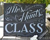 Custom Personalized Teacher Chalkboard Gift - Teacher Gift - Classroom Chalkboard Art