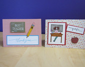 Set of Two Teacher Cards
