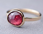 Custom Pink Sapphire Ring in 14K Gold | Choose your stone!
