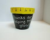 End of the year teacher gift, flower pot