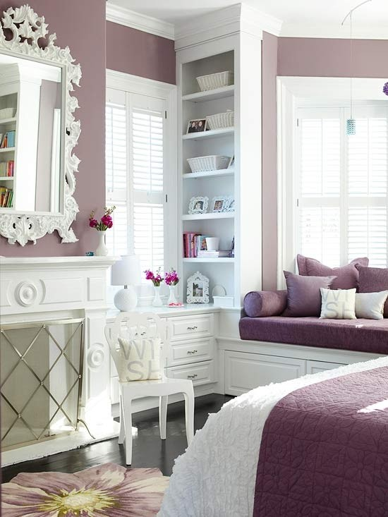 white-purple-bedroom-design
