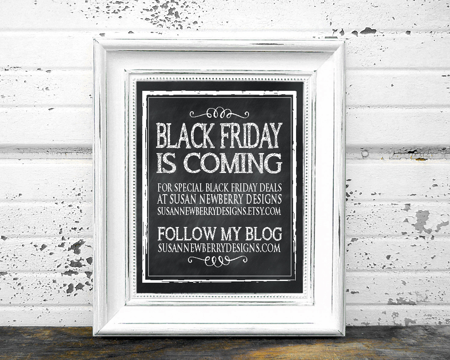 Black Friday framed