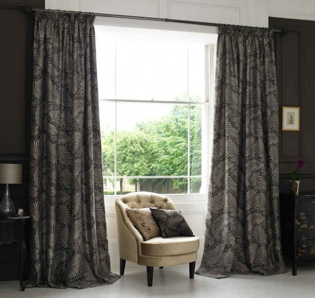 black-living-room-window-treatment-idea_black-floral-pattern-velvet-curtains_cream-floral-fabric-sofa-with-wooden-leg_black-cream-floral-cushion_crystal-white-marble-floor-615x58