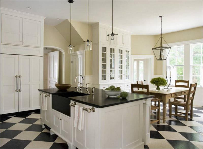 Black-And-White-Black-And-White-Diagonal-Tile-Floor-white-kitchen-tile-floor-