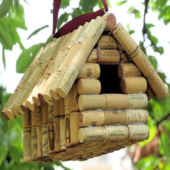 Cork Bird Feeder