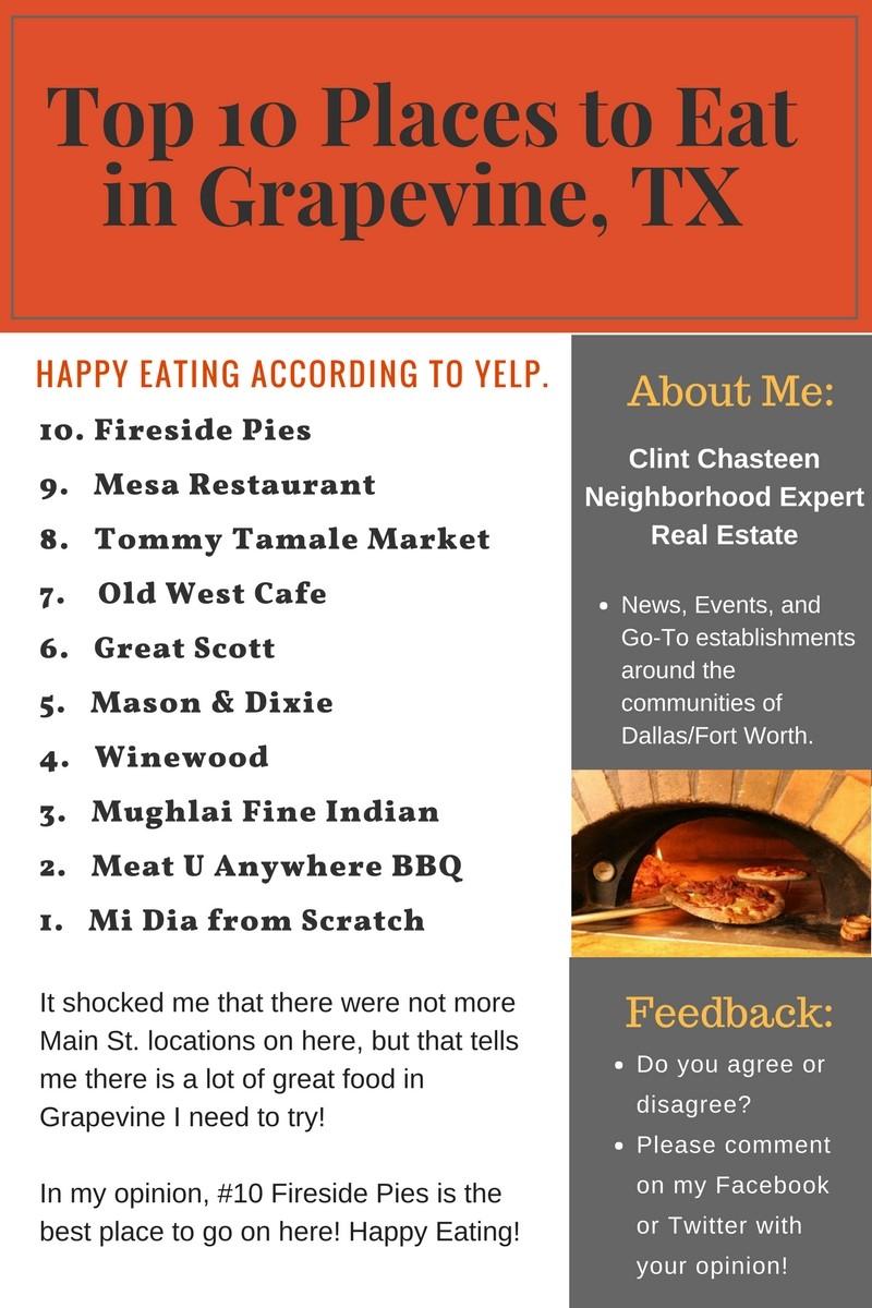 Best Restaurants In Grapevine Tx Clintchasteencom Dfw Real Estate