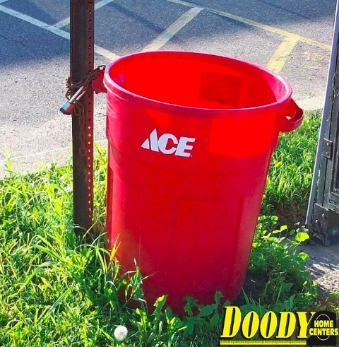 Are your trash cans starting to look dingy? Maybe it's time to get new ones! Ace heavy duty garbage cans are on sale now! Pick from red, black or green for just $18.99! Check out our full list of month-long sales on our website (link in bio)