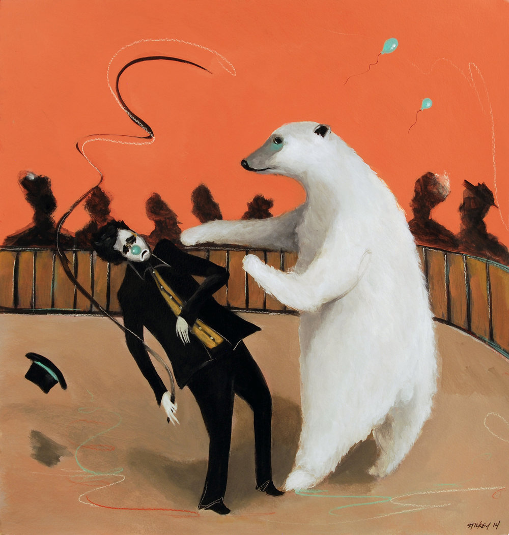 Clown Getting Punched By Polar Bear