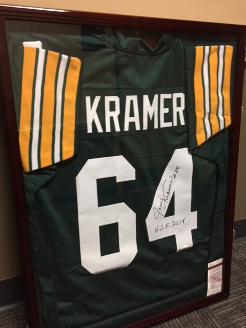 SPEF's 15th Annual All In For Education Texas Hold'em is scheduled for Friday, Oct. 19, 2018 at The Bull in Sheboygan Falls. The Grand Prize Raffle Item this year is a signed and framed Green Bay Packers Legend and 2018 NFL Hall of Famer Jerry Kramer jersey.