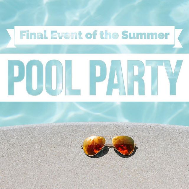 This Sunday night we are having our final summer gathering, and we are going to end with a PAR-TAY! 🌊 🎉 Starting at 6pm, we will be having a BBQ and hang out time at the pool! Some friends have graciously opened up their pool to us, and their address is: 2115 E. Greenhurst. Turn into the long driveway on the east side of the house, and park in the lot in the back. Please bring your swimming suits, a towel, and a side dish to share! Hamburgers, hotdogs, and beverages will be provided! We look forward to one last summer gathering with the Encounter fam!