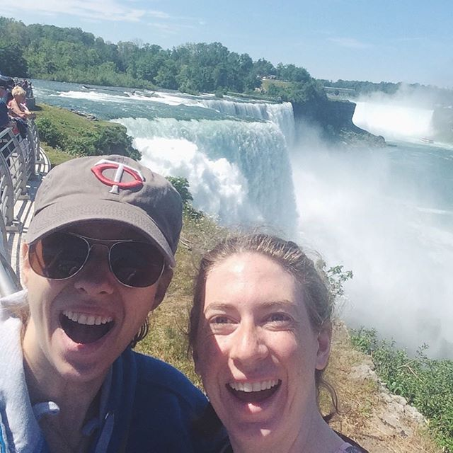 Another Thursday, another throwback! This little gem is from our long road trip between Minnesota and Maine! Tierney & Kaija couldn't help but visit the magnificent Niagara Falls (after all, we did find ourselves visiting quite a few falls on this tour)! Next time we'll have to visit the Canadian side! x . . #TBT #ThrowbackThursday #NowWhatTheatre #KaraSevdaTour #RoadTrip #NiagraFalls #WaterFalls #NewYork #InternationalTour