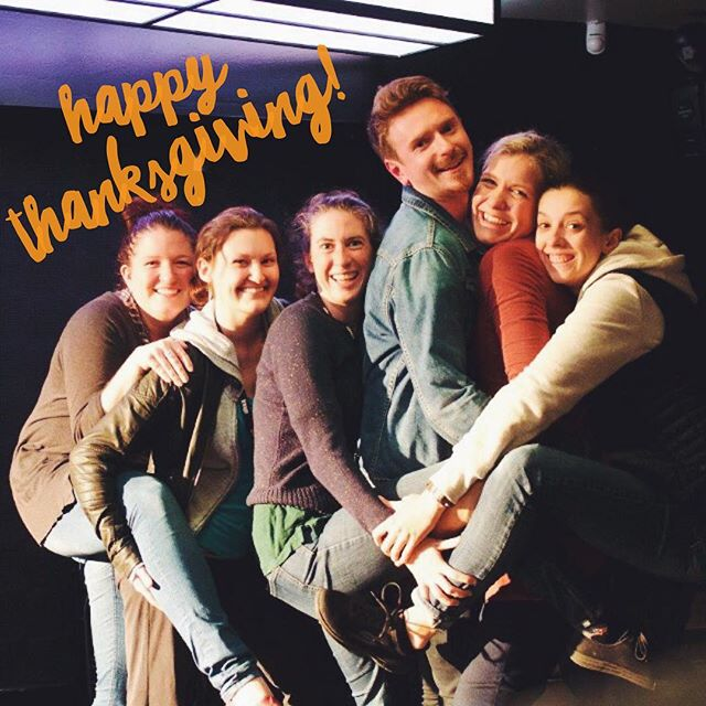 Happy Thanksgiving everyone! 🦃 As a company, we all have a lot to be thankful for this year and we're so grateful you've joined us for this incredible ride! We hope no matter where you are, you're feeling stuffed to the brim with delicious food, lots of love, and family + friends! x . . #thanksgiving #NowWhatTheatre #throwbackthursday #turkeyday #thankful #tbt