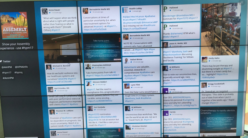 Real-time Twitter wall
