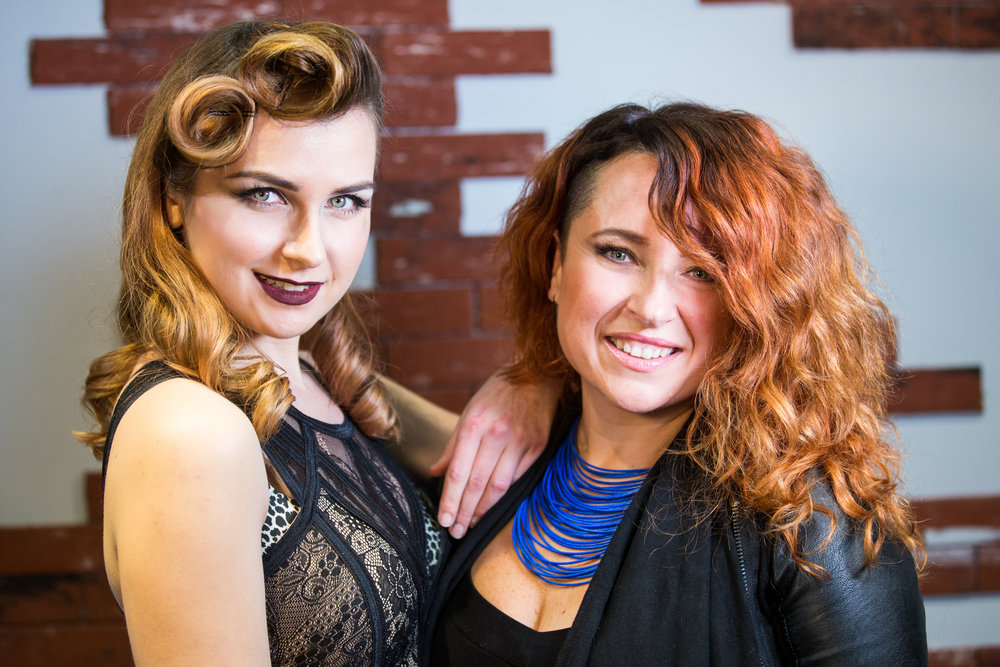 Kate - Owner and stylist & Joanna - Makeup Artist and receptionist
