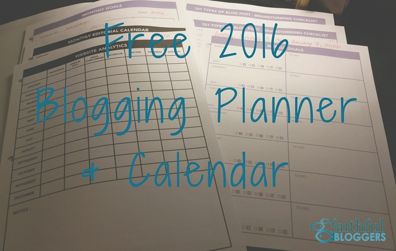 Free 2016 Blogging Planner & Calendar (1)