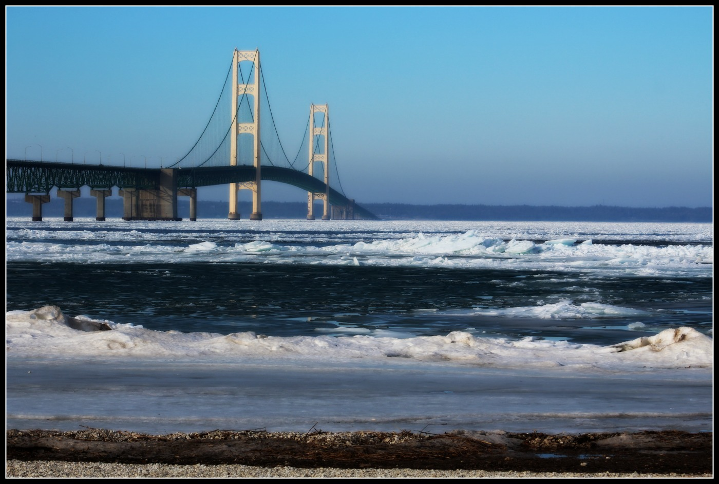 Mackinac Bridge March 2016
