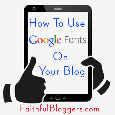 How To Use Google Fonts