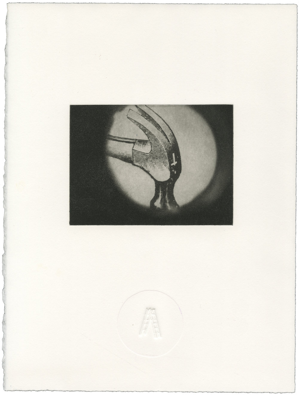 Author/Ladder , Polymer Intaglio with Blind Emboss, 11x14 inches, 2014