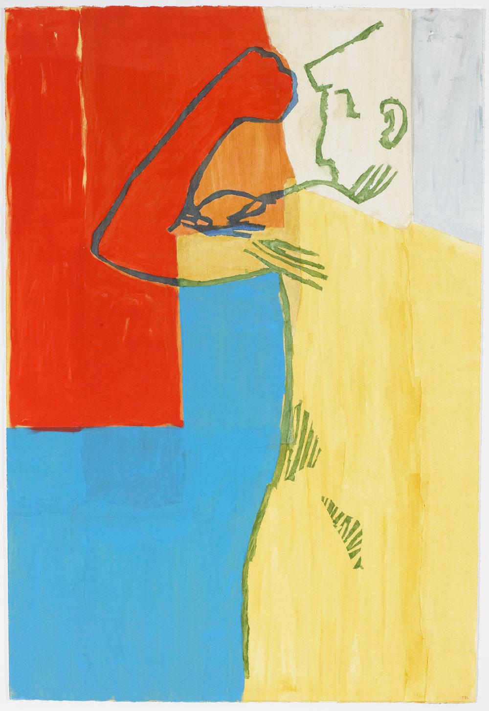 Pessoa 2 , acrylic on paper, 2016