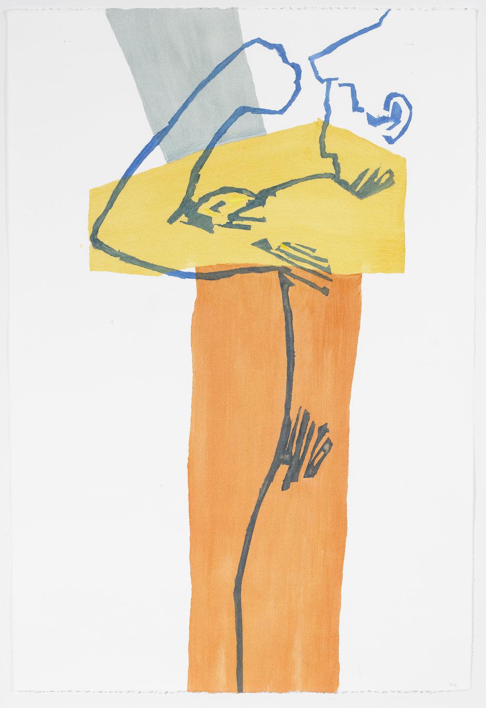 Pessoa 3 , acrylic on paper, 2016