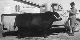 Frieda Sitz in 1950's in Longmont, CO