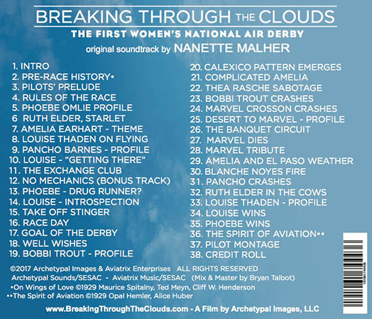 Titles on the Breaking Through The Clouds Soundtrack