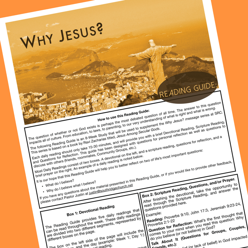 Why Jesus? Reading Guide