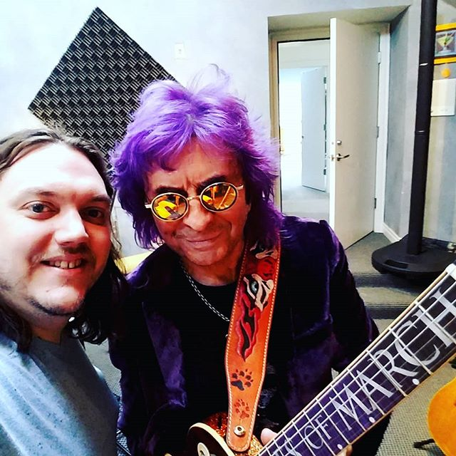 Spent some time this morning over at #lennonsden working on a signature guitar that just got more customized! . . . . . @jimpeterikrocks @neckillusions #eyeofthetiger #recordingstudio #chicagorocknroll #chicagoguitarshop #rocknroll #rockstar #grammywinner #songwriter #stonegroveguitar #stonegrove