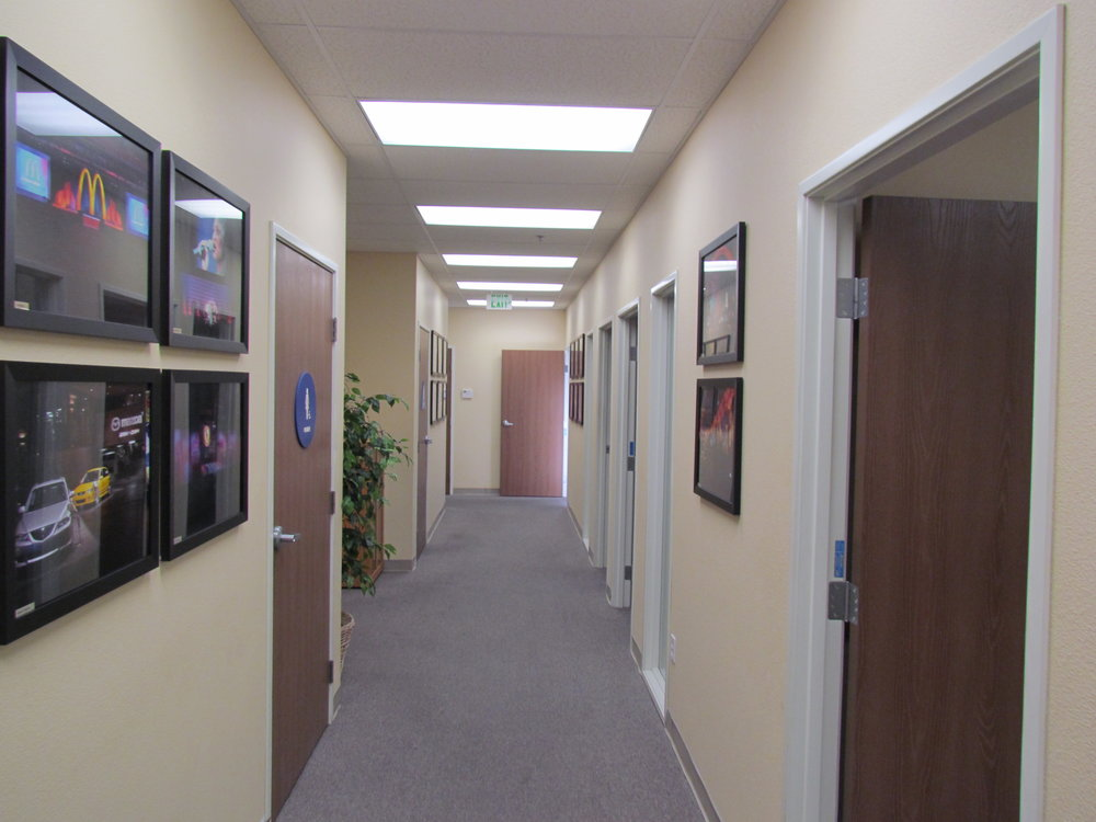 Hallway & Private Offices