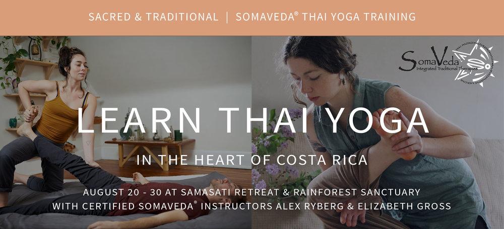 Costa Rica Thai Yoga Training and Retreat 2017