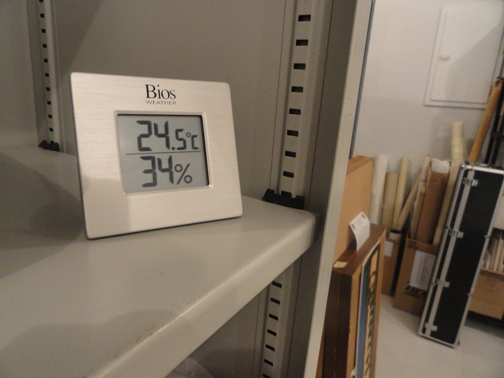 We always monitored the temperature and humidity levels manually - twice a day, every day. However that not only took lots of staff time, it also meant that on weekends and over the holidays, we might be unawareif conditions changed and became unsafe for the collection.